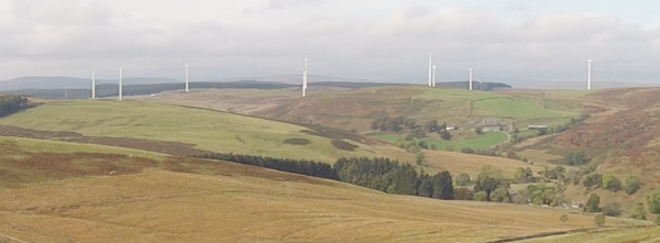 Aerial view of Wind Farm (from a distance)